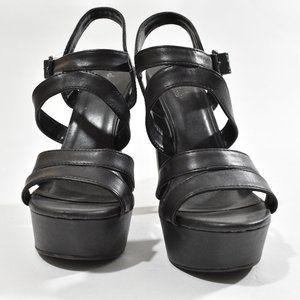 Charlotte Russe Open toe Black Heels